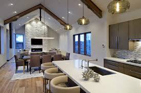 interior design mountain homes kitchen island pendant lights bring warmth to aspen mountain home