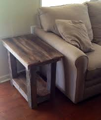 How To Build A Wood End Table by Best 25 Rustic End Tables Ideas On Pinterest Wood End Tables