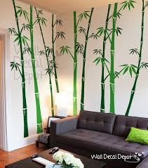 Home Decor Tree Bamboo Wall Decals Tree Wall Decal Wall Sticker Vinyl Art Home