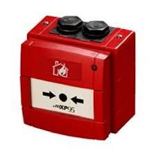 xp95 red manual addressable break glass unit comsec