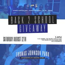 5th annual back 2 giveaway scheduled for 8 12 holy city