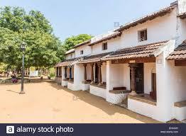 typical chettinar style house with verandah at dakshinachitra