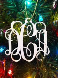 personalized custom acrylic 3 letter monogram our first christmas