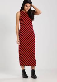 cheap monday slash stripe jersey dress red black zalando co uk