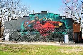 spirit halloween batavia ny jarus u0027 red dress mural tom the backroads traveller