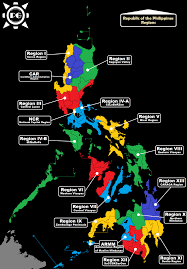 Map Of Phillipines Philippine Geographic Regions Of The Philippines