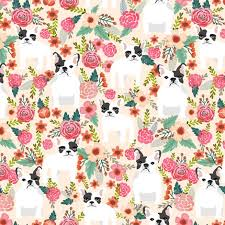 what is floral pattern in french french bulldogs flowers fabric cute florals cream girls sweet floral