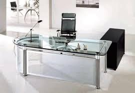 Modern Glass Executive Desk Remarkable Modern Glass Executive Desk Office Accent Regarding