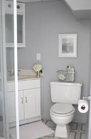 clean white interior ideas of basement bathroom design feat corner