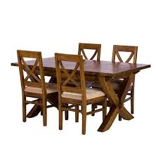 Mango Dining Tables New Frontier Mango Wood X Leg Extending Dining Table And 4 Chairs