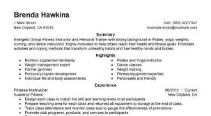 Personal Trainer Resume Sample by Free Professional Resume Template