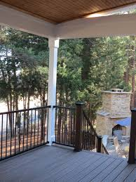 Second Floor Patio by Second Story Trex Deck With Stone Patio U2014 Deckscapes