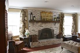 decor inspiring white brick fireplace for a brighter room design