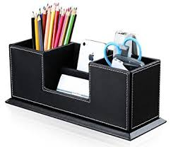 Desk Organizer Leather Kingfom Office Supplies Desk Organizer Pu Leather