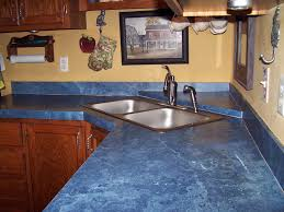 Kitchen Countertop Materials by Modern Kitchen Interior Design With Blue Countertop Materials Tile