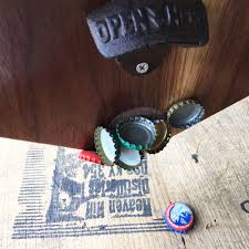 bottle opener wall mount magnet ohio bottle opener with magnetic cap catch u2013 walnut
