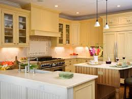 Cream Color Kitchen Cabinets Entrancing Cream Color Limestone Kitchen Backsplashes Features