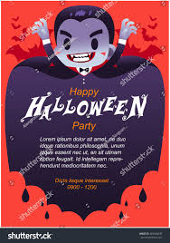 halloween invitation pictures vector dracula character happy halloween invitation stock vector