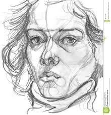 woman s portrait pencil sketch stock illustration image 39777765