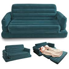 intex two person inflatable pull out sofa bed 68566 amazon co uk