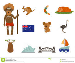 australian symbol stock vector image of animal illustrator