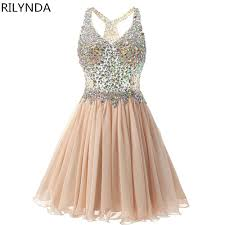 aliexpress com buy homecoming dress cheap peach a line mini