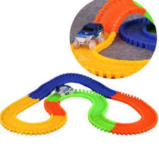 as seen on tv light up track toyofmine magic tracks glow in the dark led light up race car bend