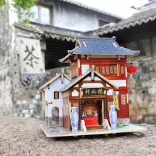 Chinese Style Home Decor Online Shop Robotime Wooden Woodcraft Construction Kit Assemble