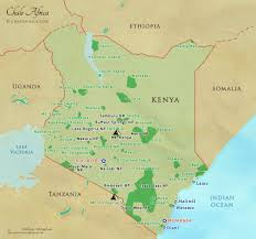 Ethiopia World Map by Kenya Safari Map Chalo Africa