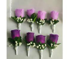 Corsage And Boutonniere Prices Purple Corsage Etsy