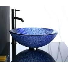 blue glass vessel sink round glass sink bowl blue bits round glass vessel sink blue glass