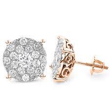 gold stud earrings for men 18k gold diamond stud earrings for men and women 3 carat