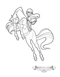 scarlet sarah whitney action horseland coloring pages