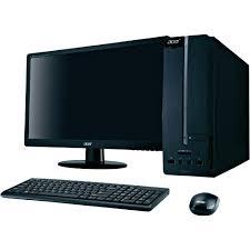 ordinateur de bureau acer aspire ordinateur de bureau 21 5 led acer aspire xc100 002 ram 4go amd