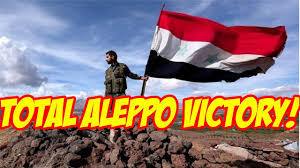 Rebel Syrian Flag Aleppo Victory All Rebels Surrender Syrian Army Liberates All Of