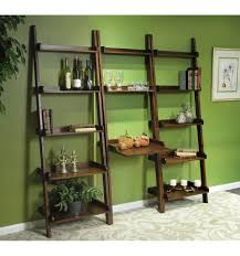 Leaning Ladder Bookcases by 25 Inch Leaning Ladder Desks Wood You Furniture Jacksonville Fl
