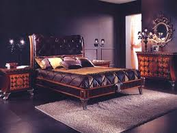 Bedroom Comfortable Bed With Smooth Pendant Lamp Furnished Purple Master Bedroom Ideas Dark Brown