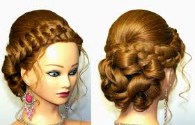 wedding prom updo hairstyle for long hair youtube