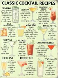 printable shot recipes classic cocktail recipes tin sign recipe tin classic cocktails