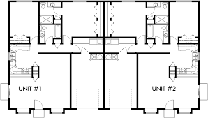 One Story House Plans With 4 Bedrooms One Story Duplex House Plans 2 Bedroom Duplex Plans Duplex Plan