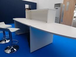 Reception Desk Hire White Reception Desk With Curved Table Ends Event Hire Uk