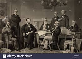 The Cabinet Members The First Reading Of The Emancipation Proclamation Before The