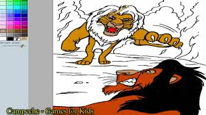 lion king online coloring pages simba versus scar 159