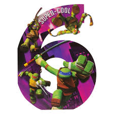 amazon com hallmark 6th birthday for him kids teenage mutant