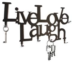Love Laugh Live Amazon Com Live Love Laugh Wall Key Hooks Holder Hanger