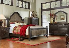 King Bed Sets Furniture Picture Of Arbor Ridge Cherry 7 Pc King Poster Bedroom From King
