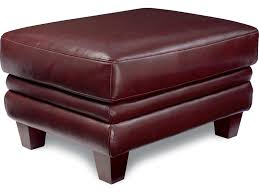 Burgundy Leather Chair And Ottoman La Z Boy Julius Leather Chair And Ottoman Set With Bustle Back And