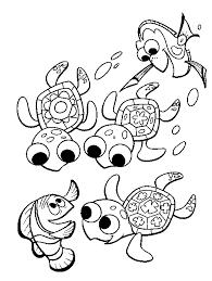 nemo sea turtle coloring