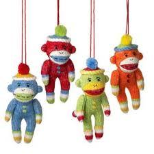 sock monkey company colorful mini sock monkey ornament