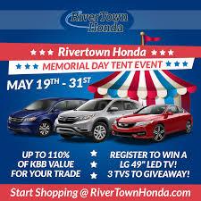 rivertown honda used cars rivertown honda report memorial day tent event at rivertown honda